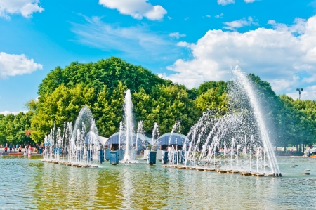gorky: Fountain in Gorky Park, Moscow, Russia, East Europe