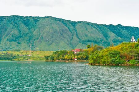 Village on Lake Toba in Sumatra, Indonesia, Southeast Asia