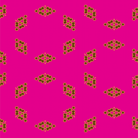 Abstract seamless pattern with circles on pink background Stock Vector - 15197205