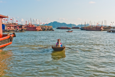 Boats in Halong Bay, Vietnam, Southeast Asia photo