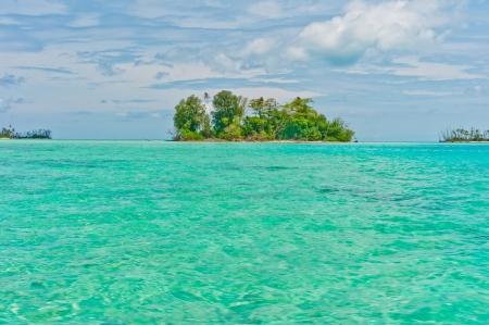 Desert islands in ocean, Banyak Archipelago, Indonesia photo