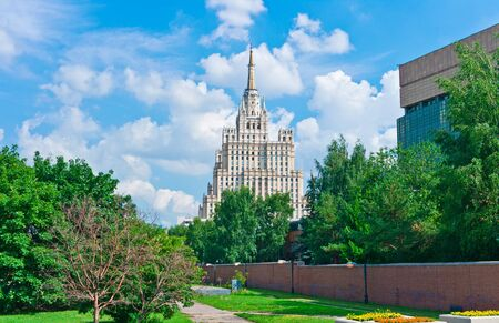 Moscow Cityscape with Old Skyscraper, Russia, East Europe Stock Photo - 15289403
