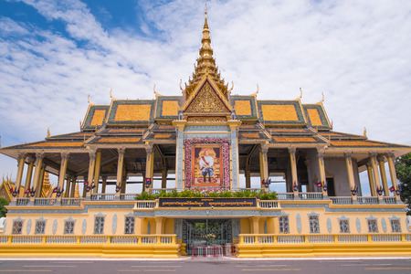Royal Palace complex in Phnom Penh, Cambodia, Southeast Asia