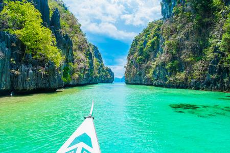 nido: Boat trip in  blue lagoon, El Nido, Palawan, Philippines