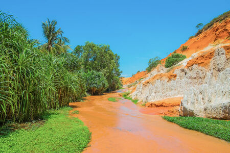 Red River and Colored Sandstone, Vietnam, Southeast Asia