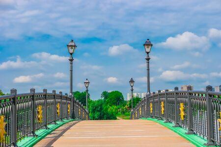 tsaritsyno: Bridge in Tsaritsyno Park, Moscow, Russia, Europe