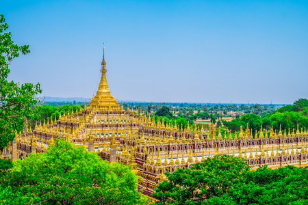 southeast asia: Beautiful Buddhist Pagoda in Myanmar, Southeast Asia
