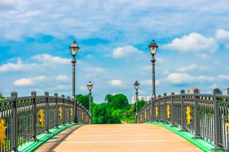 the tsaritsyno: Bridge in Tsaritsyno Park, Moscow, Russia, Europe