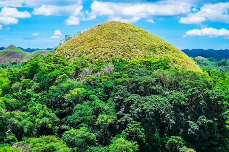 natural landmark: Famous Chocolate Hills natural landmark, Bohol island, Philippines