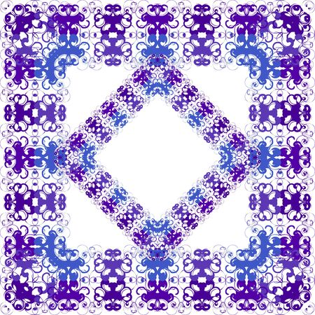 Floral purple seamless pattern on white background