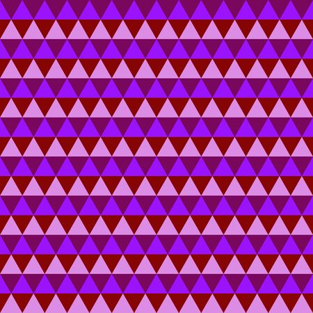 Abstract purple geometric seamless pattern of triangles