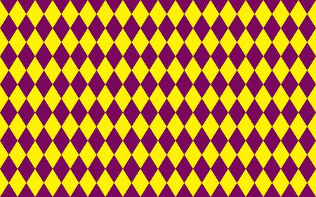 morado: Modelo inconsútil geométrico abstracto de rombos en colores púrpuras y amarillas Vectores