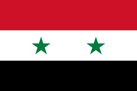 syrian: Syrian flag in correct proportions and colors Illustration