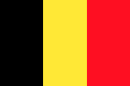 proportions: Belgian flag in correct proportions and colors Illustration