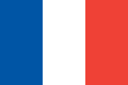 proportions: French flag in correct proportions and colors