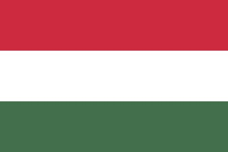 proportions: Hungarian flag in correct proportions and colors