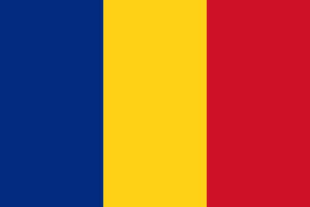 romanian: Romanian flag in correct proportions and colors Illustration