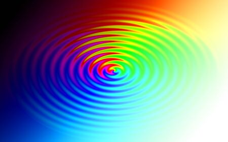 ripple effect: Abstract colorful background in rainbow colors, ripple effect