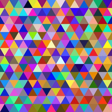 multicolored: Abstract multicolored geometric seamless pattern of triangles