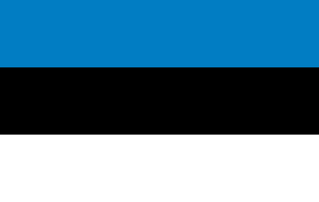 estonian: Estonian flag in correct proportions and colors