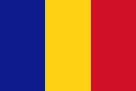 chad: Flag of Chad in correct proportions and colors