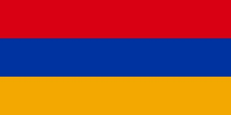 armenian: Armenian flag in correct proportions and colors