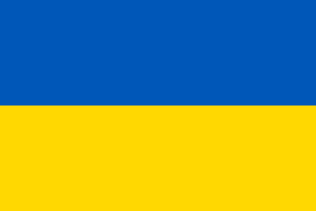 ukrainian flag: Ukrainian flag in correct proportions and colors