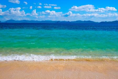 palawan: Beautiful tropical beach, El Nido, Palawan, Philippines, Southeast Asia Stock Photo
