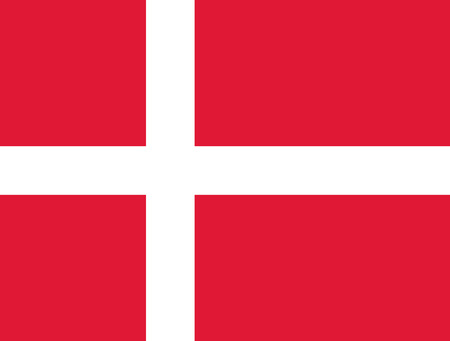 proportions: Flag of Denmark in correct proportions and colors