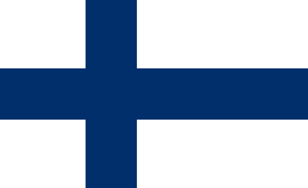 Flag of Finland in correct proportions and colors