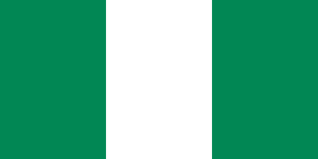 proportions: Nigerian flag in correct proportions and colors Illustration