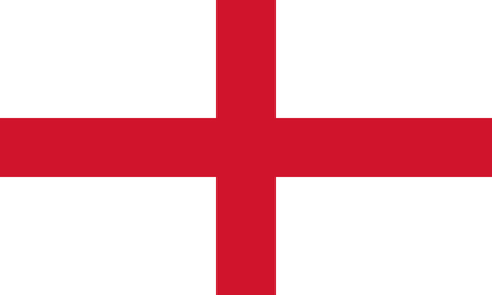george: English Flag, Cross of St. George, in correct proportions and colors
