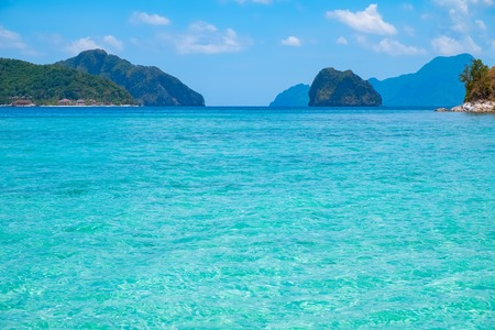 nido: Tropical landscape with blue lagoon, El Nido, Palawan, Philippines