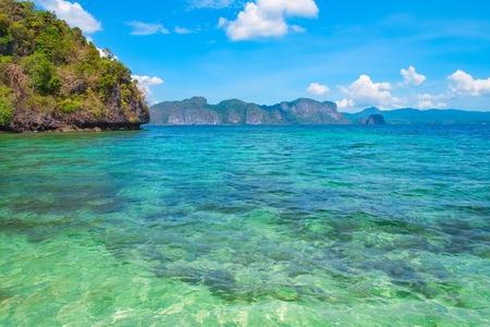 palawan: Scenic view of blue lagoon, El Nido, Palawan, Philippines