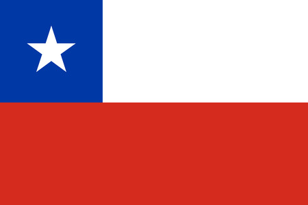 chilean: Flag of Chile in correct size, proportions and colors. Accurate dimensions. Chilean national flag. Illustration