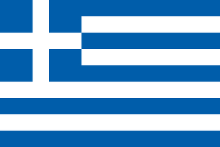 grecian: Flag of Greece in correct proportions and colors
