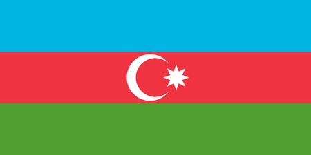 azeri: Flag of Azerbaijan in correct size, proportions and colors. Accurate dimensions. Azerbaijani national flag.
