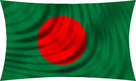 national flag bangladesh: Flag of Bangladesh waving in wind isolated on white background. Bangladeshi national flag. Patriotic symbolic design. 3d rendered illustration Stock Photo