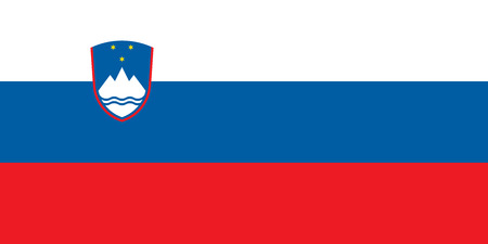 slovenian: Flag of Slovenia in correct size, proportions and colors. Accurate dimensions. Slovenian national flag. Vector illustration Illustration