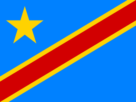 dr: Flag of Democratic Republic of the Congo correct size, proportion, colors. Accurate official standard dimensions. DR Congo national flag. African patriotic symbol, banner, element. Vector illustration Illustration