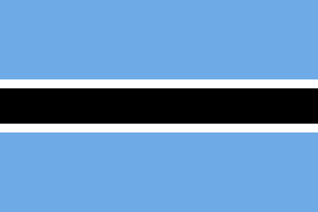 botswanan: Flag of Botswana in correct size, proportions and colors. Accurate official standard dimensions. Botswanan national flag. African patriotic symbol, banner, element, background. Vector illustration