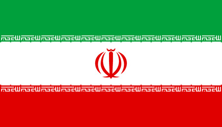 iranian: Flag of Iran in correct size, proportions and colors. Accurate official standard dimensions. Iranian national flag. Islamic Republic of Iran patriotic symbol, banner, background. Vector illustration