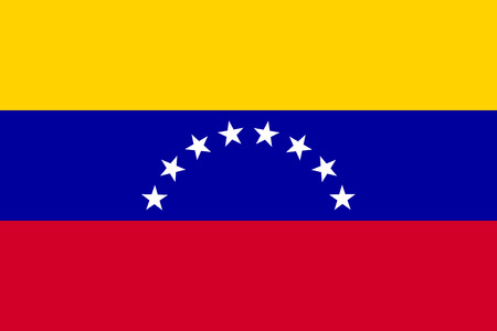 venezuelan flag: Flag of Venezuela in correct size, proportion and colors. Accurate official standard dimensions. Venezuelan national flag. Bolivarian Republic of Venezuela patriotic symbol, banner, background. Vector Illustration
