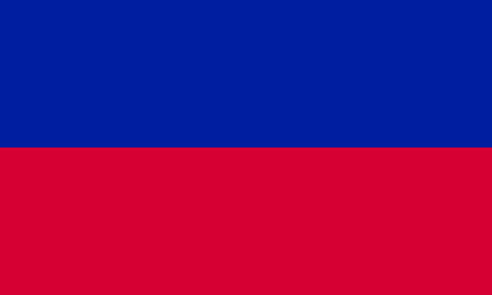 haitian: Flag of Haiti in correct size, proportions and colors. Accurate official standard dimensions. Haitian national flag. Patriotic symbol, banner, element, background. Vector illustration