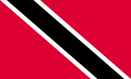trinidadian: Flag of Trinidad and Tobago in correct size, proportions, colors. Accurate official standard dimensions. Trinidadian and Tobagonian national flag. Patriotic symbol, banner, element, background. Vector Illustration