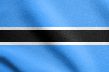 botswanan: Botswanan national official flag. African patriotic symbol, banner, element, background. Flag of Botswana waving in the wind with detailed fabric texture
