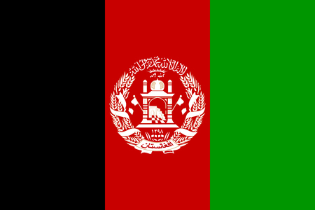 afghan: Afghan national official flag. Patriotic symbol, banner, element, background. Accurate dimensions. Flag of Afghanistan in correct size and colors, vector illustration Illustration