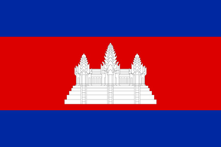 Cambodian national official flag. Patriotic symbol, banner, element, background. Accurate dimensions. Flag of Cambodia in correct size and colors, vector illustration