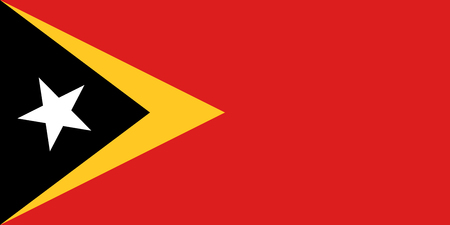 national identity: East Timorese national official flag. Patriotic symbol, banner, element, background. Accurate dimensions. Flag of East Timor in correct size and colors, vector illustration Illustration
