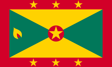 Grenadian national official flag. Patriotic symbol, banner, element, background. Accurate dimensions. Flag of Grenada in correct size and colors, vector illustration Illustration